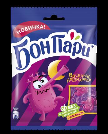 Мармелад жевательный фигурный Бон Пари веселые кошмарики со вкусом фруктов 15 шт по 75 г