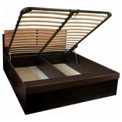 Кровать двуспальная Глазов мебель Хайпер 3 140х200 см, коричневый/черный