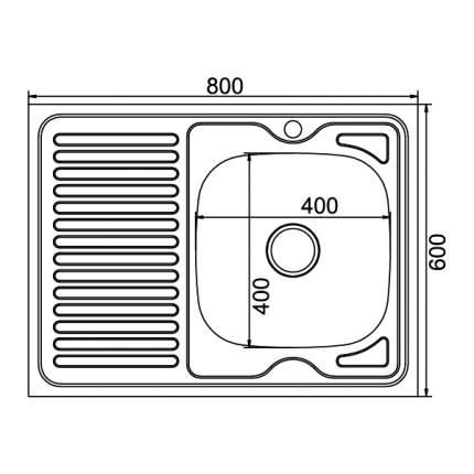 Мойка для кухни из нержавеющей стали MIXLINE 528017
