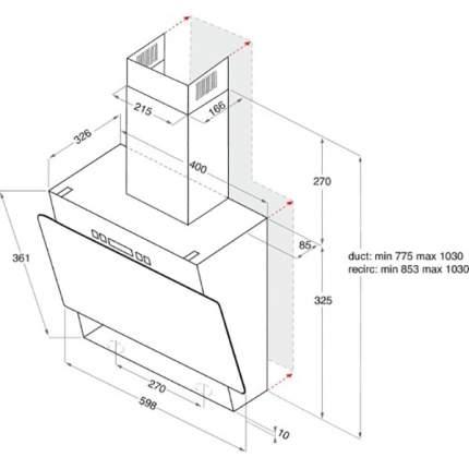 Встраиваемая вытяжка Hotpoint-Ariston RU HHVP 6.4 LL K