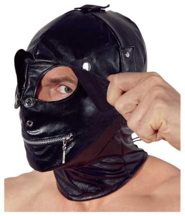 Маска Orion Imitation Leather Mask на голову с отверстиями черный