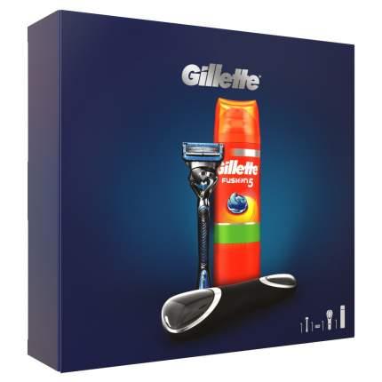 Подарочный набор GILLETTE бритва+гель д/бритья SensSkin 200мл+чехол