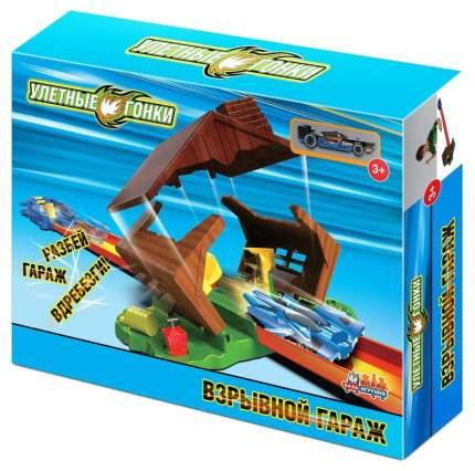 Автотрек База игрушек Улетные гонки Взрывной гараж