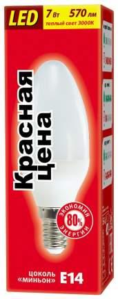 Лампочка Красная цена B35 7W E14 3000K 10 шт