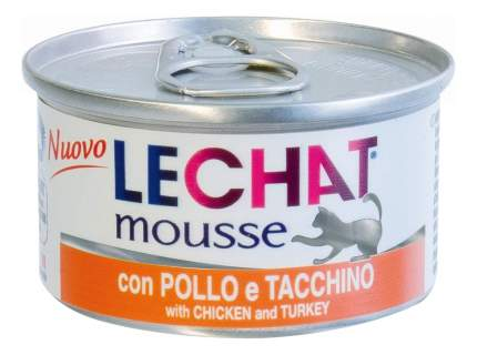 Консервы для кошек Lechat, курица, индейка, 24шт по 85г