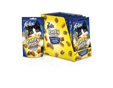 Лакомство для кошек Felix Party Mix Сырный микс чедер, гауда и эдам, 60 г x 8 шт.