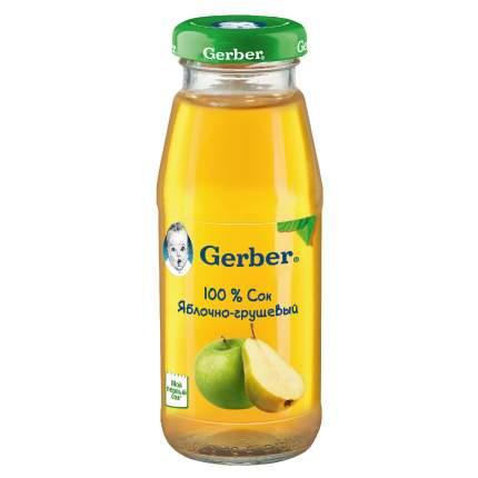 Сок  Gerber яблочно-грушевый осветленный (первая ступень), 12 штук по 175мл.