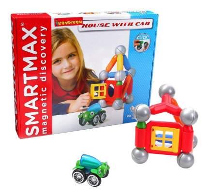 Магнитный конструктор smartmax/ Bondibon набор: дом с автомобилем