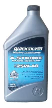 Моторное масло Quicksilver 4-Stroke Marine Engine Oil 25W-40 1л