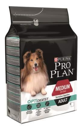 Сухой корм для собак PRO PLAN OptiDigest Medium Adult, для средних пород, ягненок, 3кг
