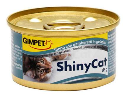 Консервы для кошек GimPet ShinyCat, тунец с креветками, 70г