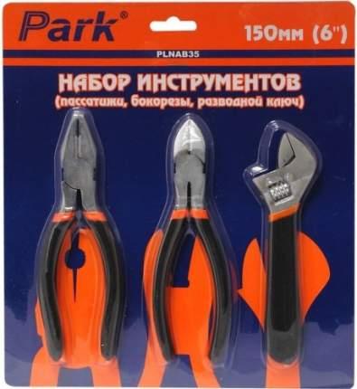 """Набор инструментов PARK PLNAB35 6"""" пассатижи, бокорезы, разводной ключ (352035)"""