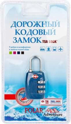 Замок для багажа кодовый Polar синий 800717