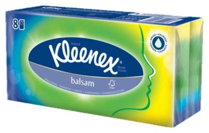 Бумажные платки Kleenex Balsam 8уп х 10 шт