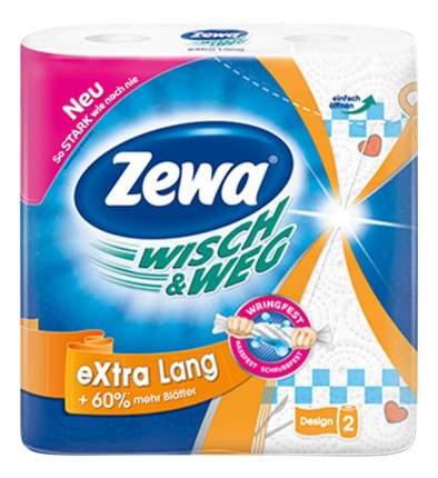 Бумажные полотенца Zewa wisch&weg extra long с рисунком 2-ух слойные 2 штуки
