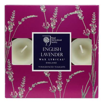 Набор ароматических чайных свечей Цветущая лаванда 9 шт,