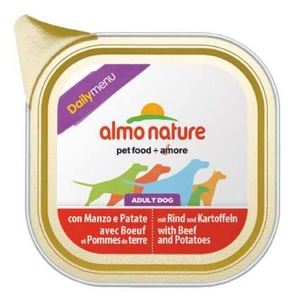 Консервы для собак Almo Nature Daily Menu, говядина, картофель, 300г