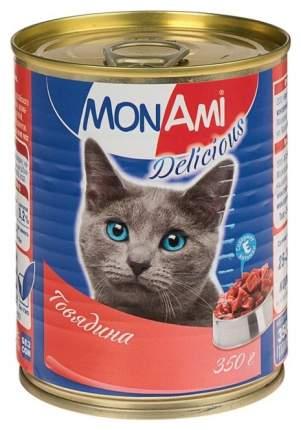 Консервы для кошек MonAmi Delicious, говядина, 350г