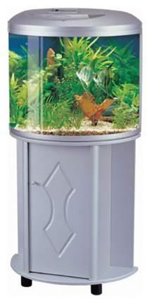 Аквариум для рыб Jebo R 760, бесшовный, с изогнутым стеклом, светлое дерево, 62 л