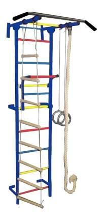 Комплекс домашний спортивный Крепыш Плюс Г пристенный-1 синий