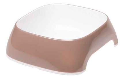 Одинарная миска для кошек и собак Ferplast, пластик, резина, белый, коричневый, 0.4 л