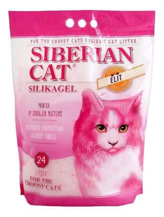 Впитывающий наполнитель для привередливых кошек Сибирская кошка Элита силикагелевый, 24 л