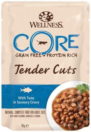 Влажный корм для кошек Wellness CORE Tender Cuts, тунец в пикантном соусе, 85г