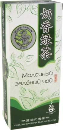 Чай зеленый Black dragon молочный 25 пакетиков