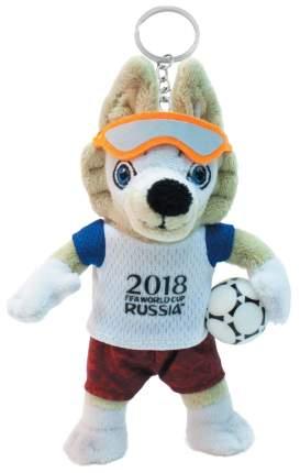 Мягкая игрушка FIFA-2018 Волк Забивака плюшевый 16 см брелок, на карте