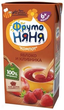 Компот ФрутоНяня Яблоко и клубника с 6 месяцев 200 мл