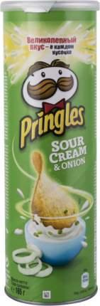 Картофельные чипсы  Pringles со вкусом сметаны и лука 165 г
