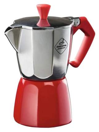 Кофеварка гейзерная Tescoma PALOMA Colore 647021 Серебристый, красный
