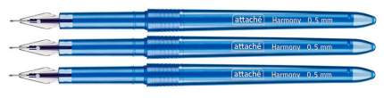 Гелевая ручка Attache Гармония синяя 3 шт