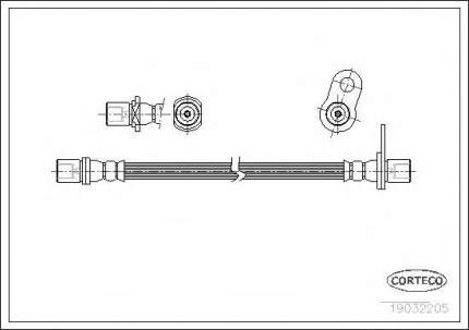 Шланг тормозной Corteco 19032205