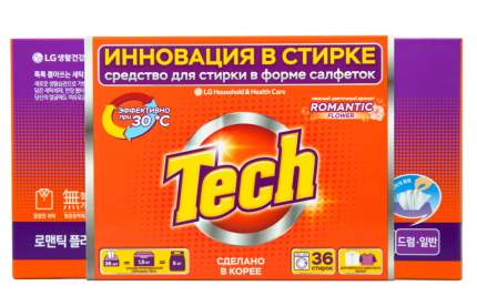 Средство для стирки в листах Tech romantic flower 36 штук