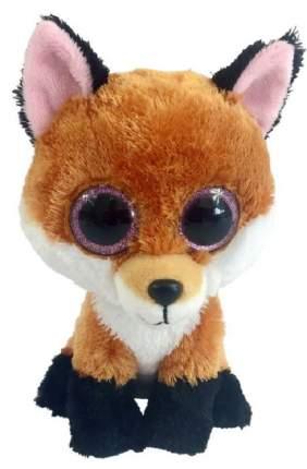 Мягкая игрушка ABtoys Лисичка коричневая, 15 см