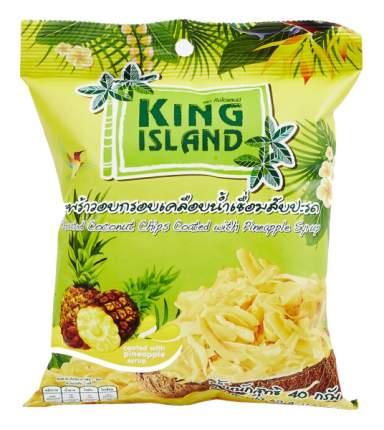 Кокосовые чипсы King Island с ананасом 40 г