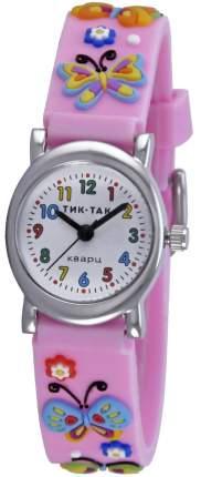 Детские наручные часы Тик-Так Н107-2 розовые бабочки
