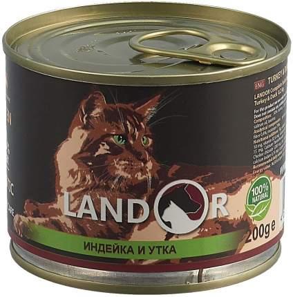 Консервы для котят Landor, индейка с уткой, 200г