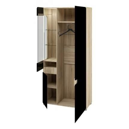 Платяной шкаф Мебель-Неман Леонардо МН-026-19-Ч NEM_MN-026-19_black 90x42x193, дуб сонома