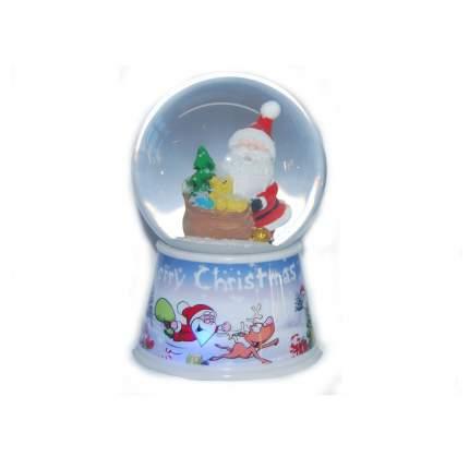 Шар декор дед мороз 80 мм свет Новогодняя сказка 972996