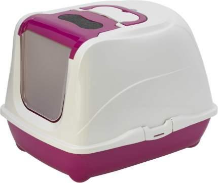 Туалет для кошек MODERNA Flip Cat, для больших кошек, прмоугольный, розовый, 58х45х42см