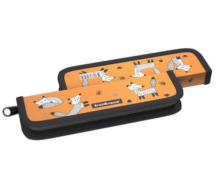 Пластиковый пенал-книжка без наполнения ErichKrause® 55x205x25мм Foxes