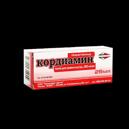 Кордиамин капли 25 % 25 мл