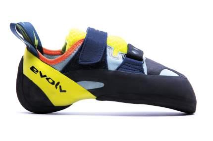 Скальные туфли Evolv Shakra, aqua/neon yellow, 7.5 US