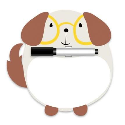 Магнитная доска Феникс+ Собака c полем для рисования и письма арт. 47878/50
