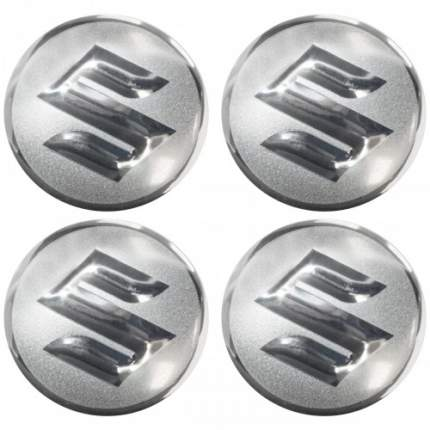 Наклейки на диски литые с логотипом автомобиля Сузуки 12050013 D-56 мм серебристые