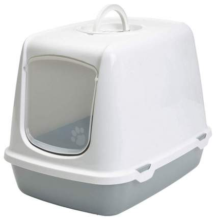 Туалет для кошек Savic Oscar, прямоугольный, серый, 50х37х39 см