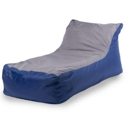 Бескаркасный модульный диван ПуффБери Кушетка one size, оксфорд, Синий/Серый