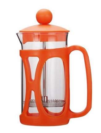 "Tima Френч-пресс оранжевый ""МАФФИН"" 350мл. Пластик. крышка и корпус, боросиликат.стекло"